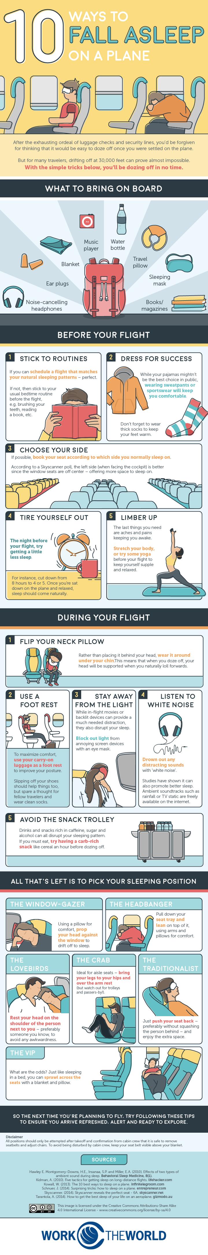 10 Ways to Fall Asleep on a Plane